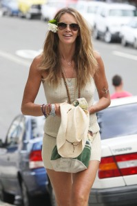 Elle Macpherson Out In Sydney On Cold Day (USA ONLY)