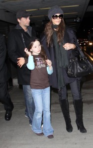 Kate Beckinsale And Family Arriving At LAX